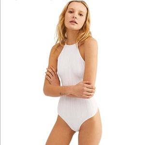NWT Free People White Bridget Bodysuit XS/S